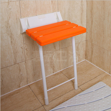 ABS+Aluminium+Stainless Steel Bathroom Furniture Wall Mounted Chair Wall Folding Chair(China (Mainland))