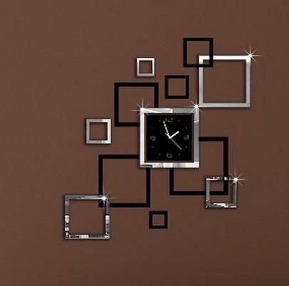 aliexpress acheter livraison gratuite d 233 coration effet miroir sticker horloge murale
