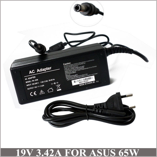 19V 3.42A 65W Laptop AC Adapter Battery Charger Power Supply For Netbook Asus SADP-65KB B EXA0703YH Z99H Z99N X50 X55 X70(China (Mainland))