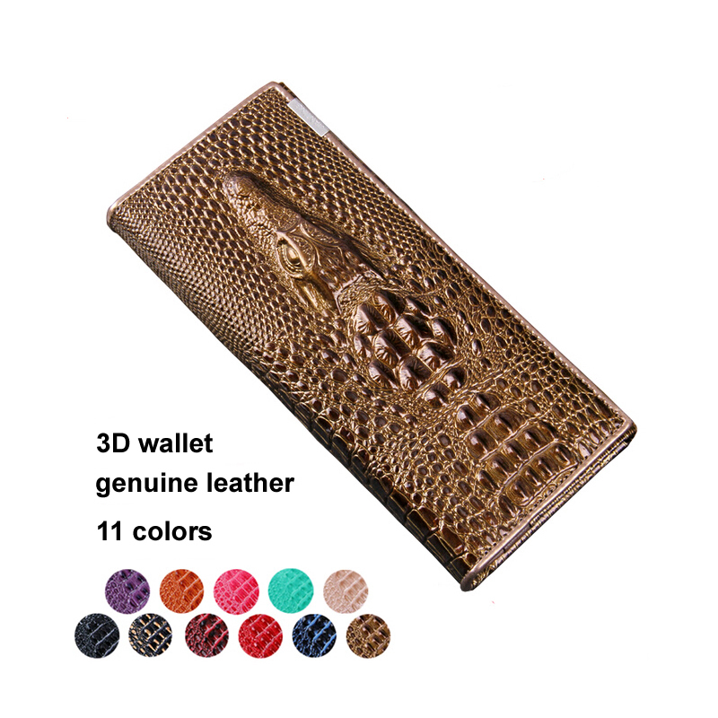 2015 New Women's Wallets Fashion Genuine Leather Wallets Clutches Crocodile 3D Purse Women's Clutches Leather Wallets QB113(China (Mainland))