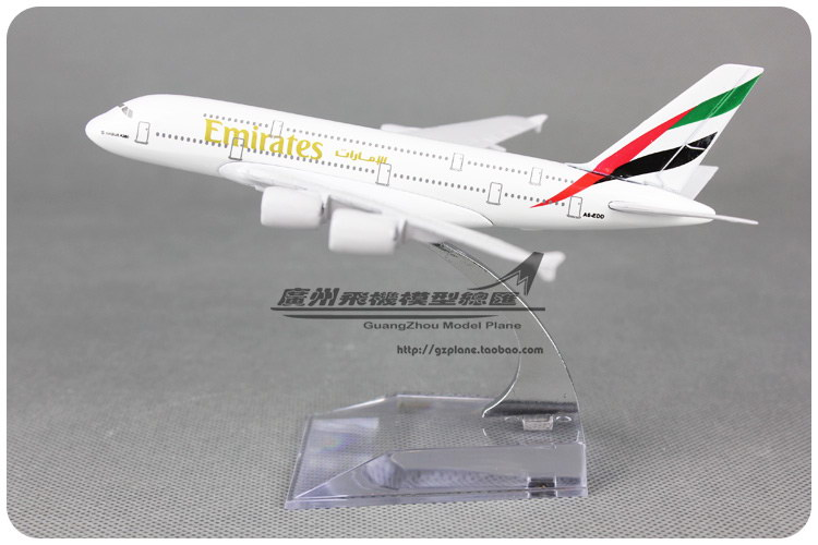 1:500 14cm Airplane Model Emirates Airways A380 Airlines Aircraft Alloy Airways Plane Model Diecast Souvenir Toy Vehicle(China (Mainland))