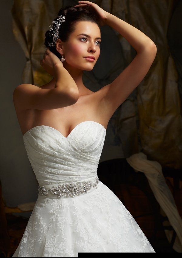 New listing on the 2015 air quality sexy lace wedding dress mermaid strapless high(China (Mainland))