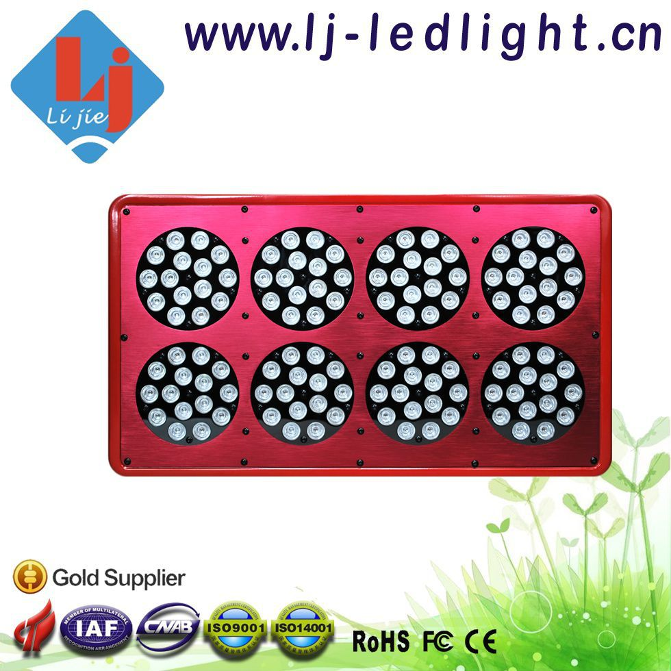 360W Apollo 8 120*3W LED Grow Light Red 630nm/Blue 460nm = 8:1 for Agricultural Greenhouses Hydroponic Systems(China (Mainland))