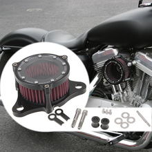 Clear See-through Dyna Softail CNC Air Cleaner Filter Motorcycle Intake For Harley Davidson Sportster 883 1200 Air Cleaner kit(China (Mainland))