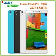 Original Lenovo PHAB PB1-750N 4G Tablet PC 6.98inch 1280x720 MSM8916 Quad Core 2GB RAM 32GB ROM 13MP Camera Dual SIM Android 5.1(China (Mainland))