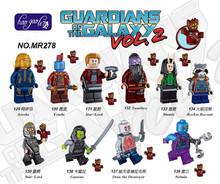 Buy hao gao le10PCS MR278 Guardians Galaxy Groot Rocket Raccoon Star-Lord Nebula Ayesha Gamora Drax destroyer Blocks Toys for $8.95 in AliExpress store