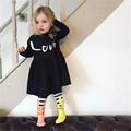 2016 Kids Summer Evening Dress Black Superstar Cool Baby Girl Dresses High Quality Summer Style Easter