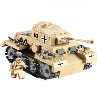 2015 HOT! High Quality Century Military German Armored Forces Tiger Tank Children Car Assembly Model Eductional Toys Blocks(China (Mainland))