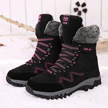 MWY Giày Mùa Đông Giữ Ấm Phụ Nữ Giản Dị Giày Zapatillas Mujer Deportiva Cao Giày Thể Thao Hàng Đầu Thoải Mái Giày Đáy Dày(China)