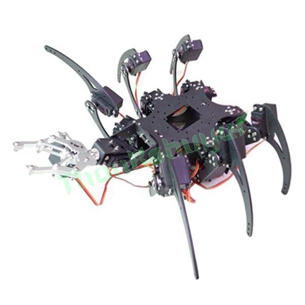20DOF Aluminium Hexapod Robotic Spider Six Legs Robot Arm Frame Kit with 20pcs Servo horn(China (Mainland))