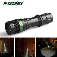 Skywolfeye Flashlight 3500 LM 3 Modes T6 LED Rechargeable 18650 Zoom Focus Torch Light VEJ97 P29(China (Mainland))