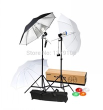 Godox S45T Photography AC Slave Flash Light Photo Studio Lighting Kit & Umbrella Stand set
