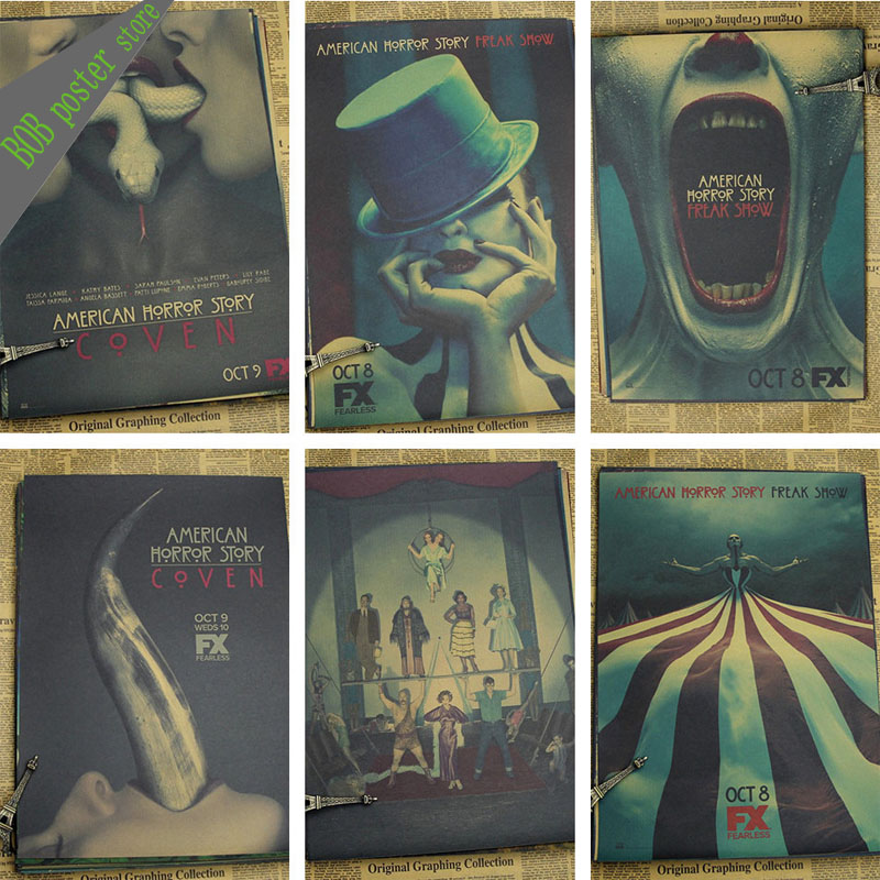 Retro horror movie posters reviews online shopping retro for American horror story wall mural