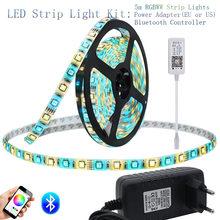 Contrôleur Bluetooth RGBW bandes de LED 12 V, jeu de bandes de style, 5050 5 m, 60,/m, + contrôleur Bluetooth + adaptateur électrique(China)
