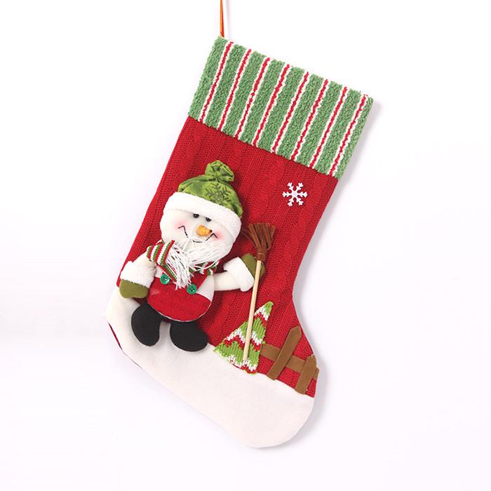 nuevo navidad pap noel mueco de nieve de navidad alce knit lana calcetines de