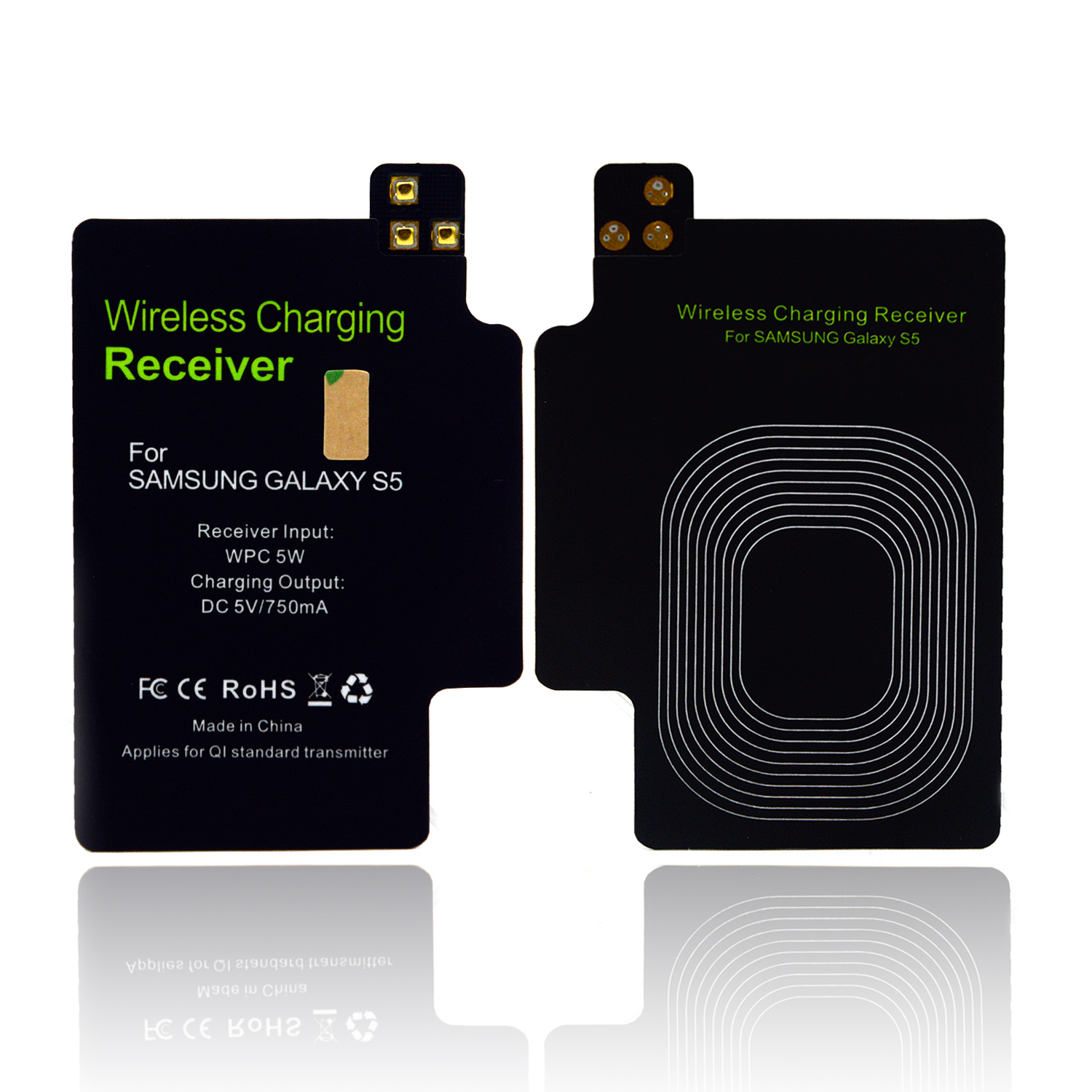 Ultra-thin QI Wireless fast Charger Receiver Module For charging cargador inalambrico Samsung Galaxy S5 I9600 Accessory Dec1(China (Mainland))
