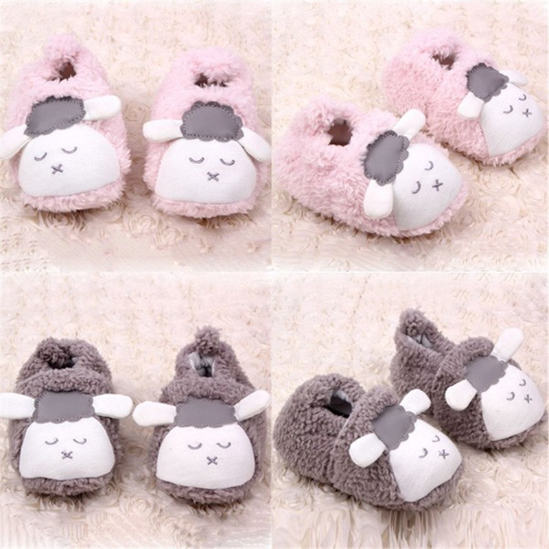 Lovely Baby Boys Girls Winter Warm Plush Booties Infant Soft Slipper Crib Shoes 0-12 Months - Always Fashion Shop store
