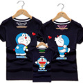 Men Women Boy Daughter Couple Matching Cotton T Shirt Kids Doraemon Tee Father T Shirts Mother