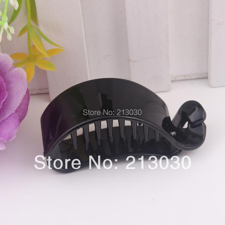 6.5CM DIY Hair Band Jewelry Plastic HAFACE hosetail claps banana shape claw clips15pcs/lot(China (Mainland))