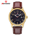 LONGBO Luxury Brand Men Military Geniune Leather Quartz Watch 2016 Fashion Men s Date Calendar Business