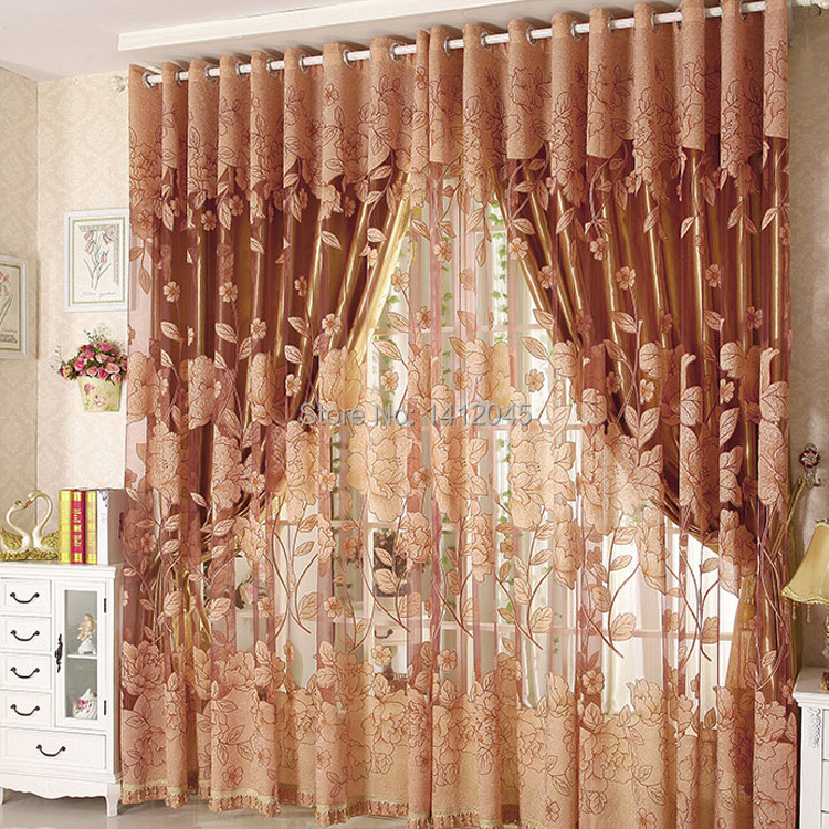 Hot high quality modern tulle for window curtain embroidered voile sheer Curtains for living room the bedroom shade drapes(China (Mainland))