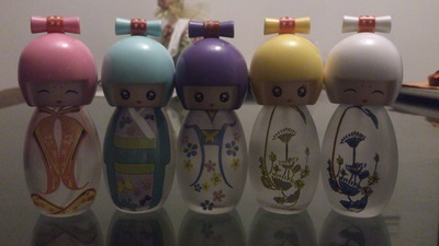 20ml Q edition doll glass spray perfume bottle/ baby bottle packaging bottle perfume /lovely glass containers for honey