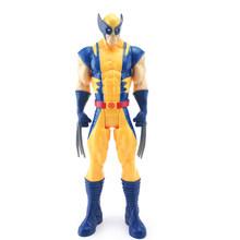 Thanos 30 centímetros avengers homem de ferro Capitão América Thor Hulk Spiderman Black Panther Aquaman flash PVC action figure toys kid presente(China)