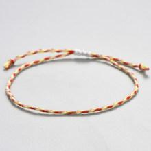 Chic Multicolor sznurek linowy urok tkane bransoletki dla kobiet rzemieślnicze pleciony węzłów przyjaźni biżuteria bransoletka męska gorąca sprzedaż(China)