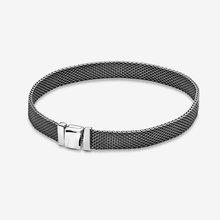 925 Sterling Silber Armband Schwarz Reflexions Mesh Armbänder Schwarz Reflexion & Sicherheit Ketten Charme Für Frauen DIY Schmuck(China)