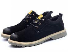 Erkekler Çelik Ayak Hava Güvenlik Botları Domuz Derisi İşçi Sigortası Ayakkabı Anti-smash Bıçak dayanıklı Anti-slip çalışma Nefes Sneakers Ayakkabı(China)