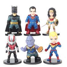 Hasbro Marvel The Avengers Batman Homem Mulher Maravilha Figuras de Ação de Super-heróis Thor Formiga Decoração Boneca Brinquedos Presentes De Chirldren(China)