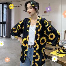 ملابس الشارع Harajuku كيمونو ثوب الكيمونو الياباني سترة المرأة يوكاتا جيشا كيمونو Obi اليابانية الآسيوية قميص الشيفون سترة(China)