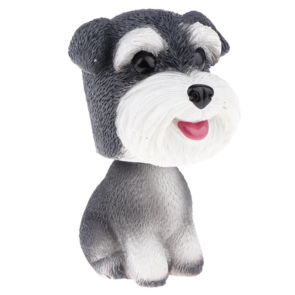 Bobblehead Dog Car Dashboard Decor Puppy Shaking Head Desktop Resin Ornament