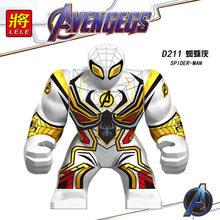 Único Grande Tamanho Grande Máquina de Guerra Homem De Ferro Ironman Hulk Spiderman Super-heróis Bane Pantera Negra Dogshank Blocos de Construção de Brinquedos(China)