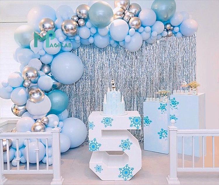 12 Inch Color Balloons 84Pcs Seven colors 12 pcs per color with FREE Bellow Pump