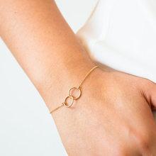 חדש אופנה רסיס זהב צבע לב עלה צורה גיאומטרית קריסטל מתכוונן שרשרת קסם מותאם אישית צמידי גברים נשים תכשיטים(China)