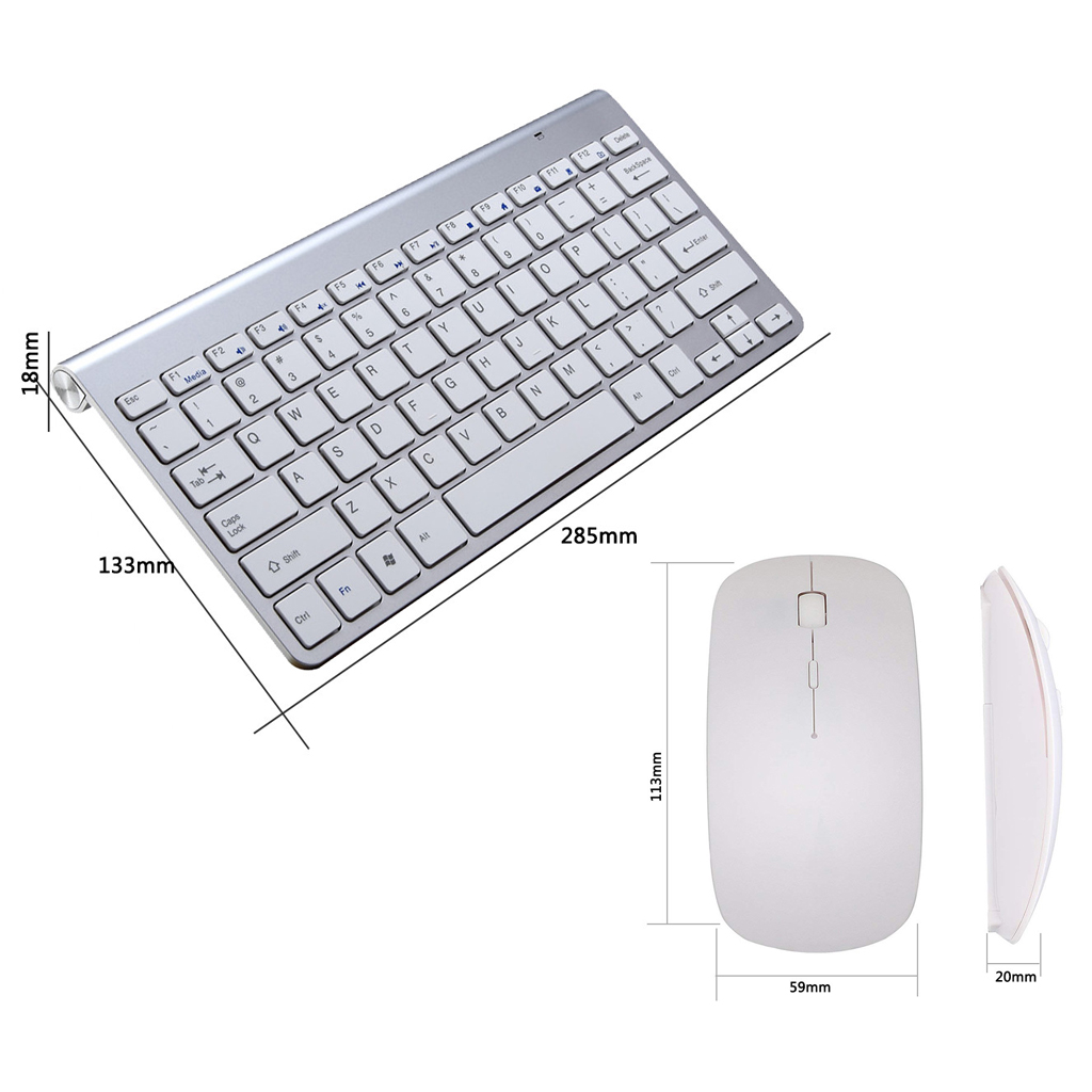 Office Supplies 2.4G Wireless Keyboard and Mouse Mini Multimedia Keyboard Mouse Combo Set For Notebook Laptop Mac Desktop PC TV