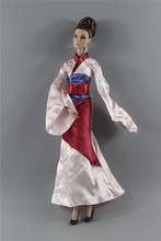 Paleis Stijl Gown Etnische Oude Kostuum formele kleding Outfit Kleding Kleding Voor 1/6 BJD Xinyi Barbie FR ST Pop Gift xmas(China)