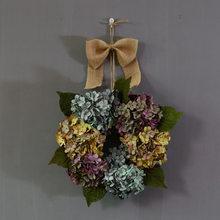 Винтажный венок гортензии, украшения для свадебных дверей, украшения для леса, имитация цветов, настенные украшения(Китай)