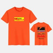 Jepang T-shirt Harajuku Kodak Dicetak Lengan Pendek T-shirt Pria Wanita 2020 Musim Panas Kasual Katun Hip Hop Streetwear Atasan(China)