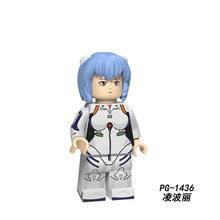 "Blok Bangunan EVA Neon Genesis Evangelion Kartun Angka Asuka Shiji ""Ikari"" Gendou Ling Bo Li Boneka Batu Bata Mainan Anak-anak PG8172(China)"