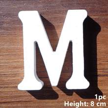 Taoup White A-Z Wooden Letters Home Decor Standing English Alphabet Custom 0-9 Wooden Number DIY Crafts Wedding Love Accessories(China)