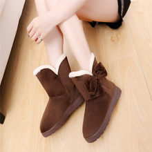 Sıcak yeni moda kürk kadın sıcak yarım çizmeler kadın botları ilmek kar botları ve sonbahar kış kadın ayakkabı daireler ayakkabı NO1(China)