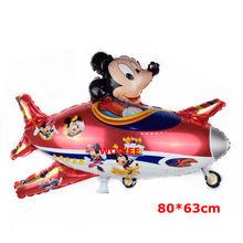 5 ชิ้น/ล็อต Blue Mickey Mouse Cupcake Toppers วันเกิดฝักบัวเด็กเด็กอุปกรณ์(China)