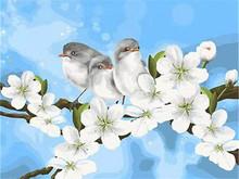 AZQSD птицы цветок DIY Набор для рисования по номерам рисунок на холсте домашний настенный художественный декор Ручная роспись живопись для ху...(Китай)