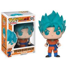 Funko POP Brinquedos de Dragon Ball Super Saiyan Goku Vegeta Anime Original Funko Brinquedos PVC Figuras de Ação Collectible Modelo 2F32(China)