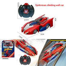 Controle Remoto Disney Car Marvel transformador Spiderman RC Wall Escalada Car Controle Remoto de Teto Corrida Brinquedos Elétricos(China)
