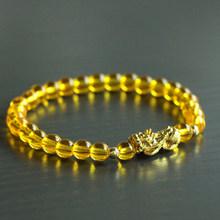 Mcllroy Men Bracelet 6mm Natural Stone Beads Pixiu Bracelet Charm Lucky Bracelets & Bangles Homme Men Jewelry pulsera hombre(China)