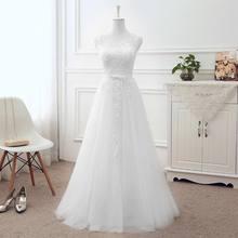 בתוספת גודל ערב שמלות ארוך אונליין טול תחרה יין אדום ורוד אפור לבן כחול ערב שמלת שמלת המפלגה Robe de siree DR03(China)