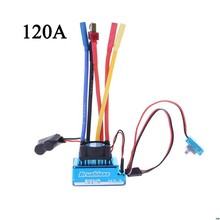 Resistente al agua 45A 60A 80A 120A Brushless ESC controlador de velocidad eléctrico a prueba de polvo para 1/8 1/10 1/12 RC coche orugas RC barco parte(China)